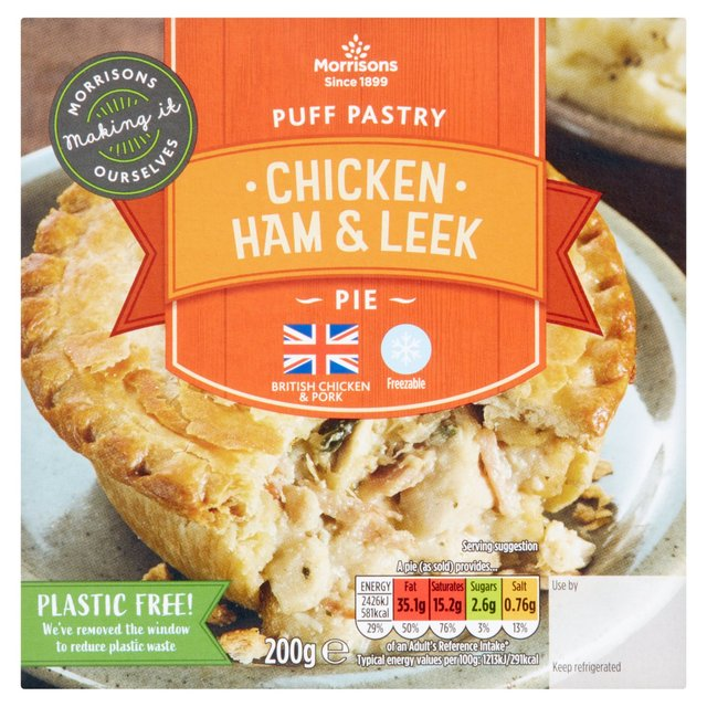 Morrisons Puff Pastry Chicken, Ham & Leek Pie