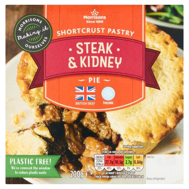 Morrisons: Morrisons Shortcrust Steak & Kidney Pie 200g ...