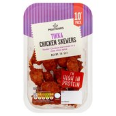 Morrisons Mini Chicken Tikka Skewers 10 Pack