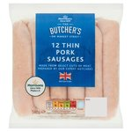 Morrisons Thin Pork Sausages 12 Pack