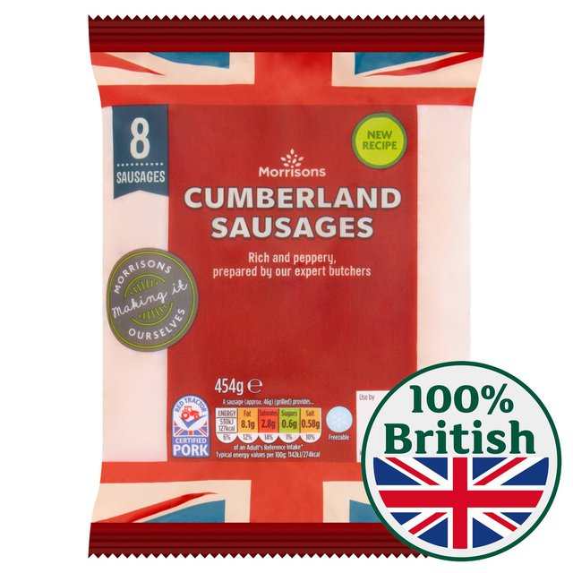 Morrisons Butcher's Style Thick Cumberland Sausages
