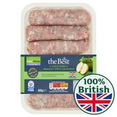 Morrisons The Best Thick Pork & Bramley Apple Sausages