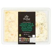 Morrisons The Best Extra Crunchy Coleslaw & Baby Charlotte Potato Salad Duo