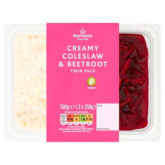 Morrisons Classic Coleslaw & Beetroot Salad Duo Twin Pot