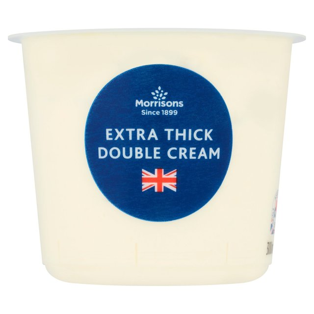 morrisons morrisons extra thick double cream 300ml product information. Black Bedroom Furniture Sets. Home Design Ideas