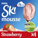 Ski Strawberry Mousse with Strawberry Sauce