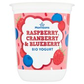 Morrisons Raspberry, Cranberry & Blueberry Bio Yogurt