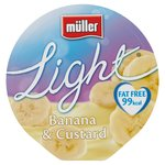 Muller Light Fat Free Banana & Custard Yoghurt