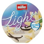 Muller Light Fat Free Vanilla Yoghurt