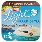 Muller Light Greek Style Coconut With a Hint of Vanilla Yoghurts