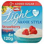 Muller Light Greek Style Sublime Strawberry Yogurts