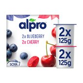 Alpro Blueberry & Cherry Soya Yogurts