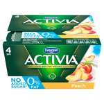 Activia 0% Fat Peach Yogurts