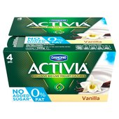 Activia 0% Fat Vanilla Yogurts