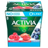 Activia 0% Fat Forest Fruits, Raspberry, Blueberry & Strawberry Yogurts