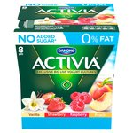 Danone Activia 0% Fat Strawberry, Raspberry, Peach & Vanilla Yogurt