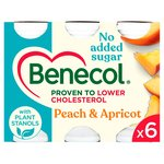 Benecol Peach & Apricot No Added Sugar Yogurt Drink