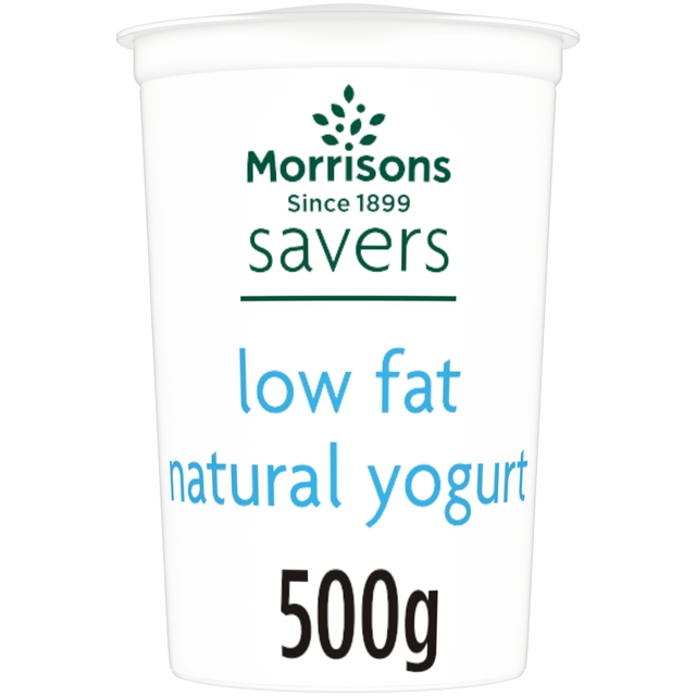 Morrisons M Savers Low Fat Natural Yogurt 500g Product