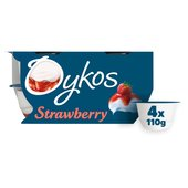 Oykos Greek Style Strawberry Yogurts
