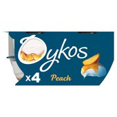Oykos Greek Style Peach Yogurts