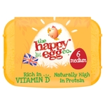 The Happy Egg Co. 6 Free Range Eggs Medium