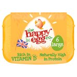 The Happy Egg Co. 6 Free Range Eggs Large