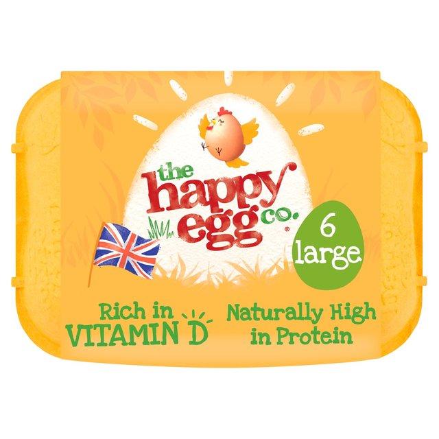 Happy Egg Co. Large Free Range Eggs 6 pack