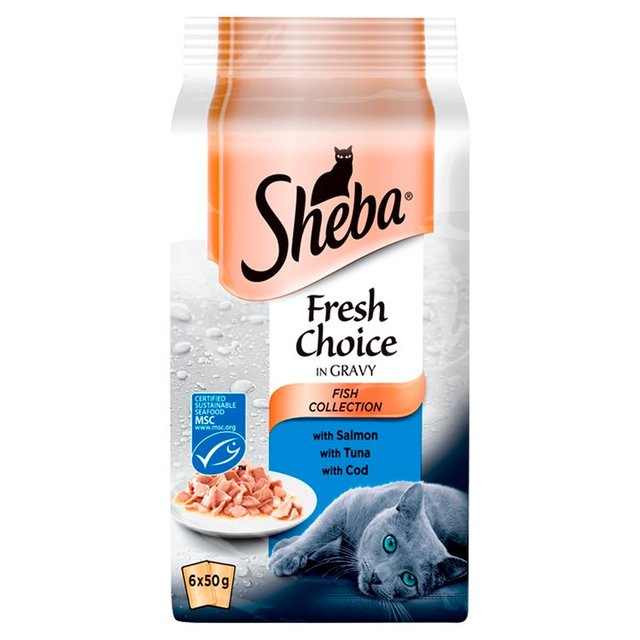Sheba Pouch Fresh Choice Fish Selection in Gravy