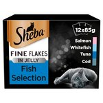 Sheba Pouch Fine Flakes Fish Selection in Jelly