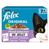 Felix Senior Cat Food Mixed Chicken In Jelly
