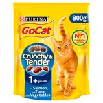 Go-Cat Crunchy and Tender Cat Food Salmon