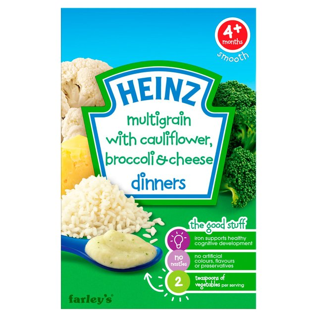Heinz 4 Mths+ Cauliflower & Broccoli Cheese Dinner