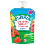 Heinz 4-36 Months Smooth Strawberry, Raspberry and Banana Puree
