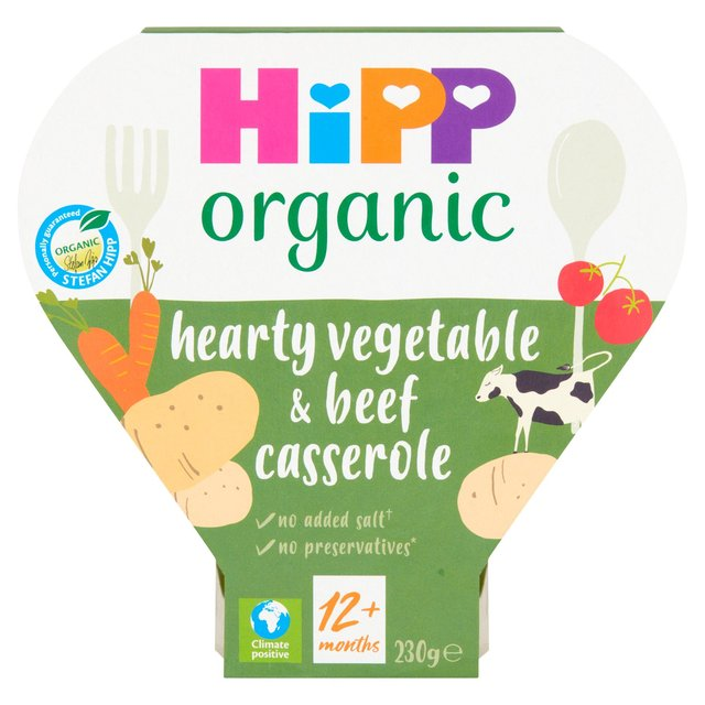 HiPP Organic 1-3 Years Growing Up Meals Hearty Vegetables & Beef Casserole