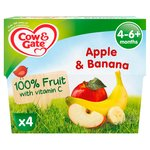 Cow & Gate Apple & Banana Fruit Pots