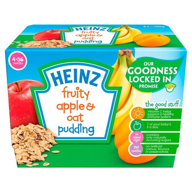 Morrisons Heinz 4 36 Mths Fruity Pudding With Apple Oats