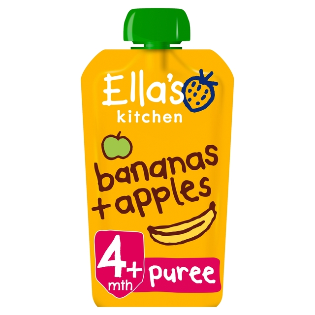 Ella's Kitchen 4 Mths+ Organic Apples & Bananas