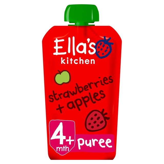 Ella's Kitchen 4 Mths+ Organic Strawberries & Apples