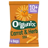 Organix Carrot Stix Finger Food Toddler Snack Corn Puffs Multipack