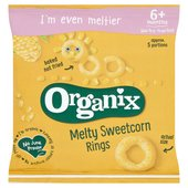 Organix Melty Sweetcorn Rings Organic Baby Finger Food Snack