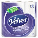 Quilted Velvet Pure White Toilet Tissue