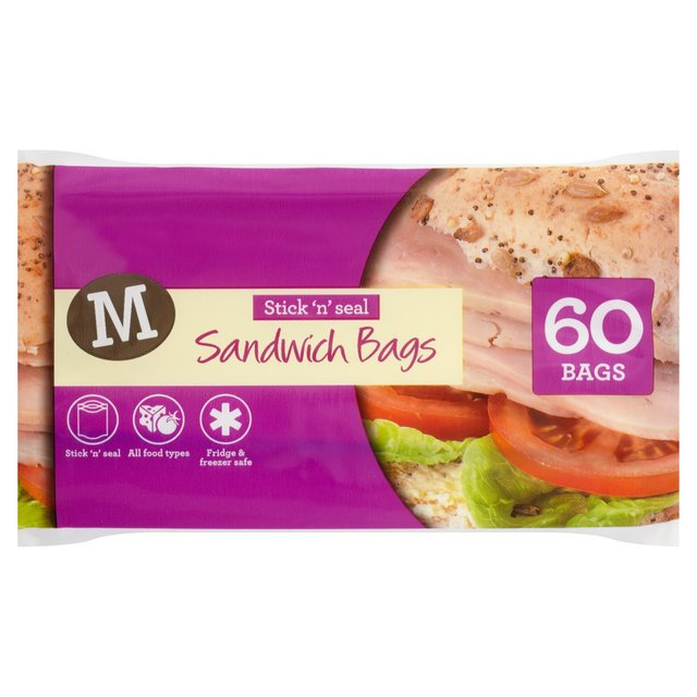 Morrisons Easy Seal Sandwich Bags 60 Per Pack