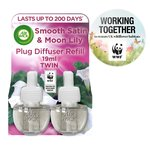 Airwick Double Fresh Twin Electrical Refill Smooth Satin & Moon Lily