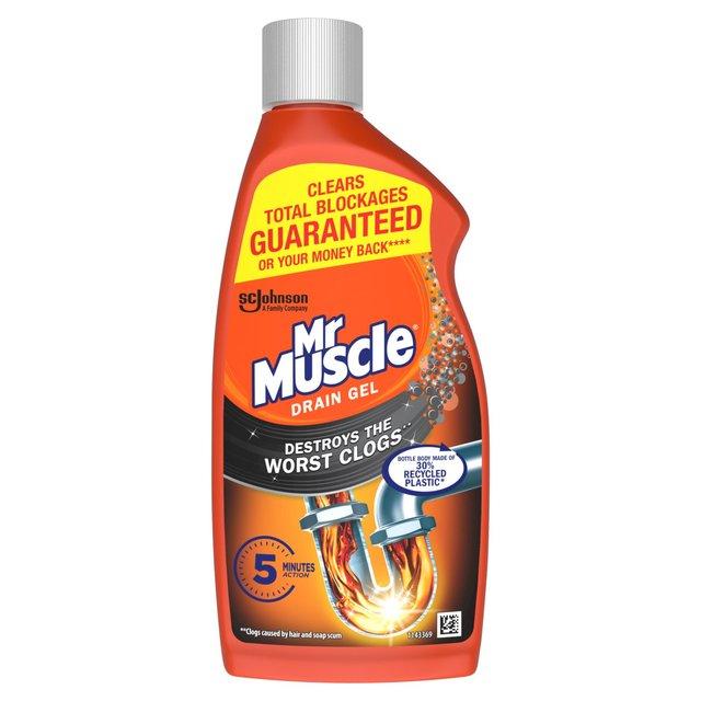 Morrisons Mr Muscle Drain Power Gel For Full Clogs 500ml