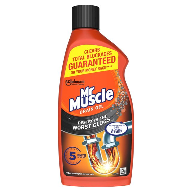 Mr Muscle Drain Power Gel for Full Clogs
