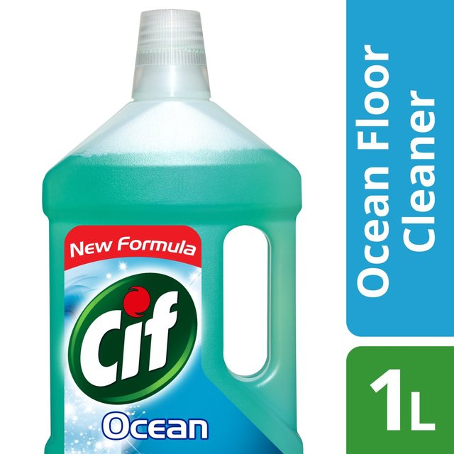 Morrisons cif liquid floor cleaner ocean 1l product for Floor cleaning