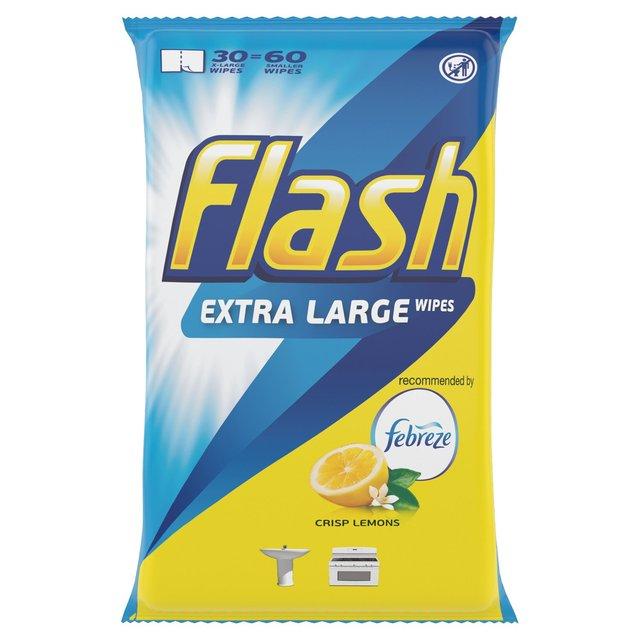 Flash Cleaning Wipes Lemon 8X30