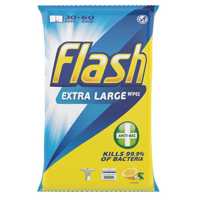 Flash Anti-Bacterial Cleaning Wipes 60X