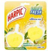 Harpic Active Fresh Hygienic Citrus Rim Block Twin Pack