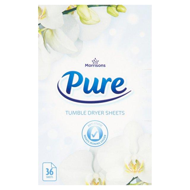 Morrisons Morrisons Pure Tumble Dryer Sheets 36 Per Pack